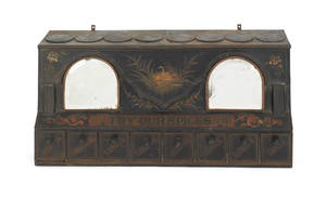 Painted tin spice cabinet