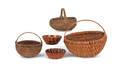 Three woven baskets
