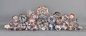 Large collection of Imari porcelain