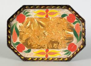 Tin toleware tray early 19th c