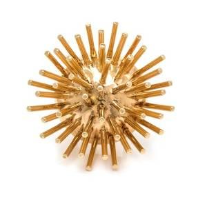 A Yellow Gold Starburst Brooch