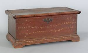 Miniature Pennsylvania walnut blanket chest late 18th c