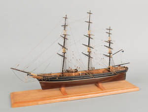 American carved and rigged ship model of the clipper ship