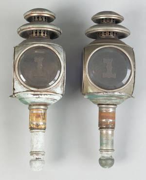 Pair of fire engine lanterns 19th c