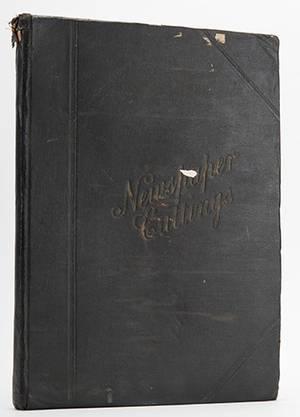 Lyle Cecil Cecil Lyle Scrapbook Tall scrapbook of