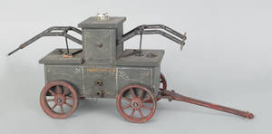 Painted wood model of an early 19th c Philadelphia style hand pumper early 20th c