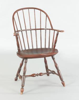 Lancaster County Pennsylvania sackback windsor armchair ca 1780