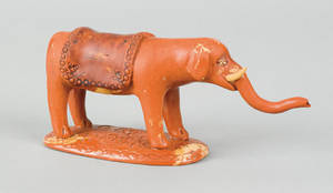 Pennsylvania redware figure of an elephant 19th c