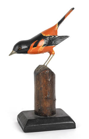 American carved and painted Baltimore oriole early 20th c