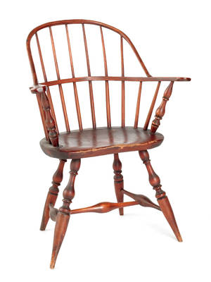 Philadelphia sackback Windsor armchair ca 1780