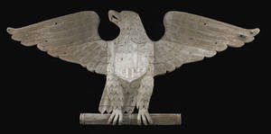 American carved mahogany spread winged eagle architectural ornament ca 18801910