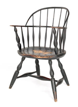 New England sackback Windsor armchair ca 1770