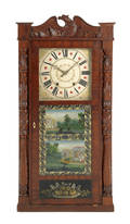 Jerome  Darrow Empire mahogany triple decker mantle clock ca 1835