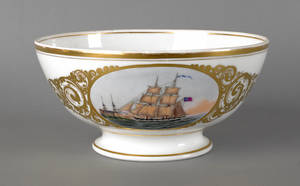 English porcelain bowl of nautical interest dated