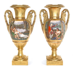 Pair of Darte Paris porcelain vases ca 1820