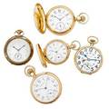 Four american gold one goldfilled pocket watches