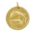 Van cleef  arpels pisces st christopher gold medallion