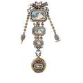 French gilt silver louis xvi style chatelaine watch