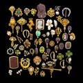 66 antique gold stickpins or hat pins