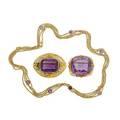 Edwardian gold  amethyst jewelry