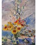 DAVID BURLIUK RUSSIAN 18821967 Flowers in the Southwest