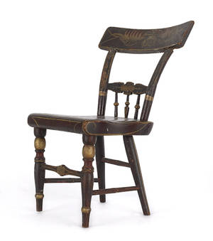Miniature Baltimore painted fancy chair mid 19th c
