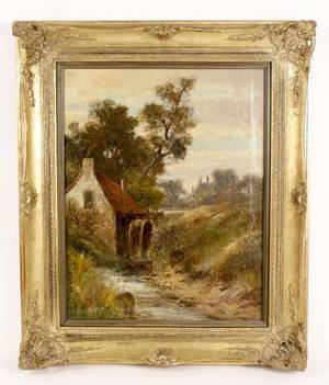 Abraham Hulk II Landscape Oil Painting Signed
