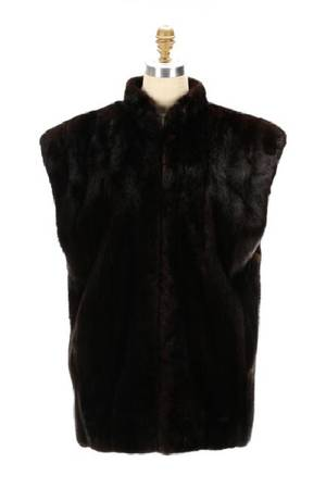 Ladies Dark Brown Mink Fur Vest