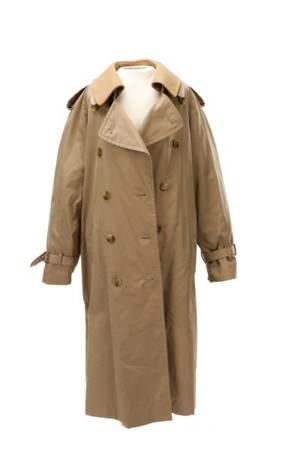 Burberry Mens Trench Coat w Classic Plaid Lining
