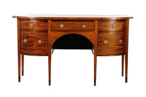 English Hepplewhite Style Mahogany Sideboard 19 C
