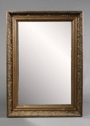 Heavy Gilt Wood  Gesso Rectangular Wall Mirror