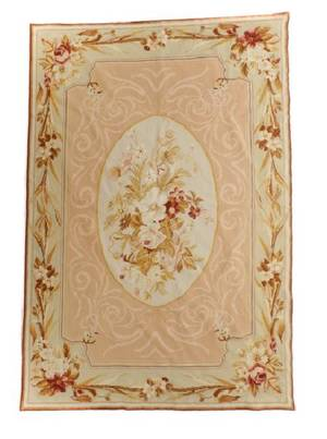 Aubusson Style Hand Knotted Tapestry or Rug