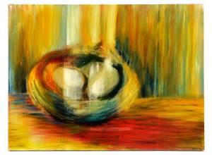 Elizabeth Blair Barber Nest Oil on Canvas