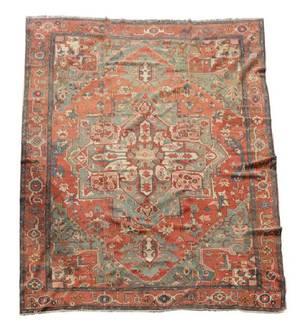 Fine Hand Woven Persian Serapi Rug 10 5 x 13
