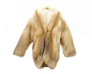 Red Fox Fur Coat with Horn Toggle Closure