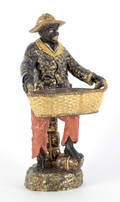 Large Majolica blackamoor figure 19th c