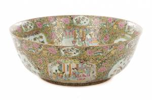 Very Fine Palatial Thousand Butterfly Center Bowl