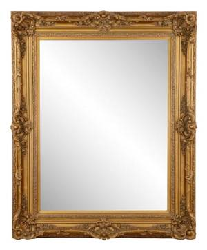 Large Gold Neoclassical Style Wall Mirror