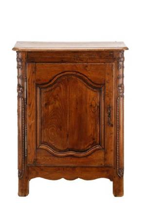 French Provincial Louis XV Style Oak Cabinet