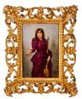 Royal Vienna Porcelain Portrait Plaque Signed