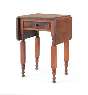 Pennsylvania cherry and mahogany work stand