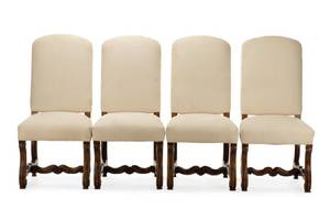 Four French Provincial Style Walnut Side Chairs