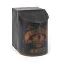 Painted tin tea bin