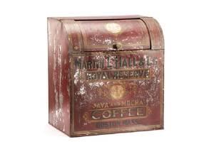 Martin L Hall Red Tole Coffee Dispenser 19 C