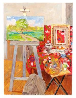 Dmitriy ProshkinIn the Studio Oil on Canvas