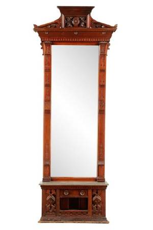 Victorian Eastlake Style Pier Mirror Console