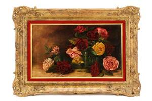 Mary Elizabeth Duffield Floral Still Life Oil