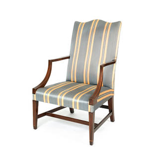 Kindel Federal style mahogany lolling chair