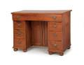 English mahogany kneehole desk