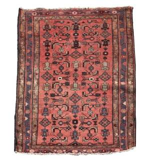 Hand Woven Persian Area Rug 4 7 x 3 4